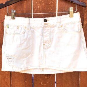 Hollister Destroyed Mini Skirt